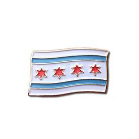 Chicago Flag Enamel Pin