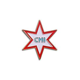 Chicago Star Enamel Pin