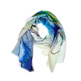 Stained Glass Scarf - Blue BLUE