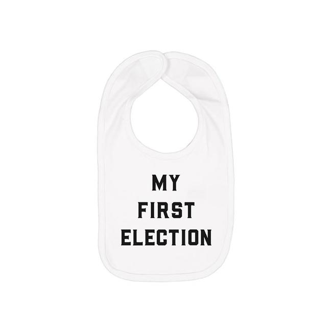 My First Election Bib - White