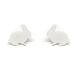 Bunny Earrings - White