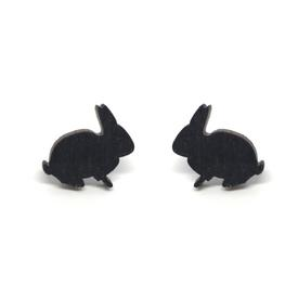 Bunny Earrings - Black
