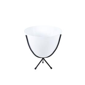 Mini Retro Bullet Bowl Planter - White