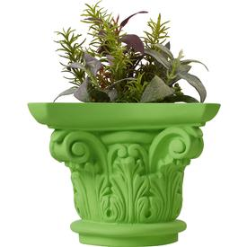 Vase Column Planter - Green GREEN