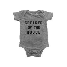 Speaker of the House Onesie - Grey