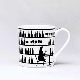 Wine Tasting Rabbit Mug
