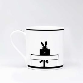 Working Rabbit Mug WHITE_BLACK