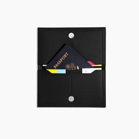 Minimalist Travel Wallet - Black