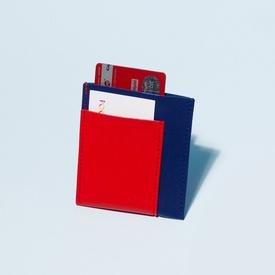 Pocket Wallet - Cobalt and Red