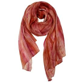 Crinkle Silk Scarf - Rose and Blush