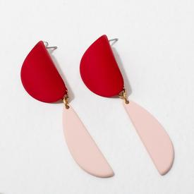 Yayoi Earrings - Red and Pink