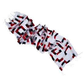 Maze Illusion Scarf RED_BLACK_WHITE