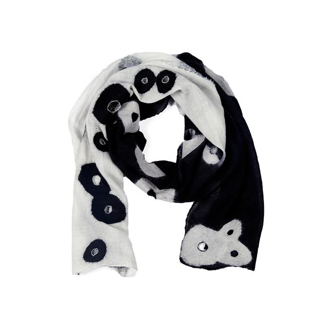Holey Scarf - Black And White