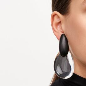 Rosario Clip Earrings BLACK_CLEAR