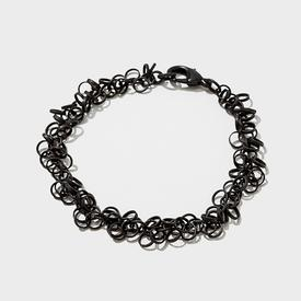 Black Circles Geometric Bracelet
