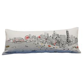 Chicago Skyline Pillow - White