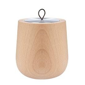 Wood Candle Shell and Ambre Scented Candle- Natural