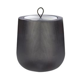 Wood Candle Shell and Noir Scented Candle - Black