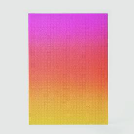 Gradient Puzzle - Large - Pink Orange Yellow