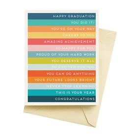 Stripes Graduation Card
