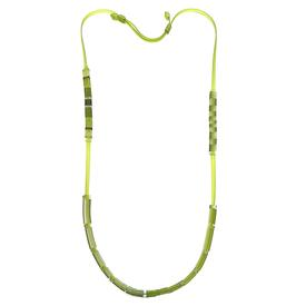 Domino Necklace - Lime Green