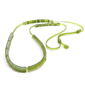 Domino Necklace - Lime Green LEMON_GREEN