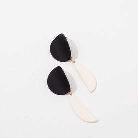 Yayoi Earrings - Black and White