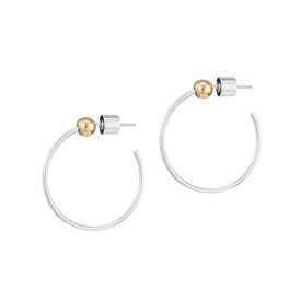 Icon Hoop Earrings SILVER_GOLD