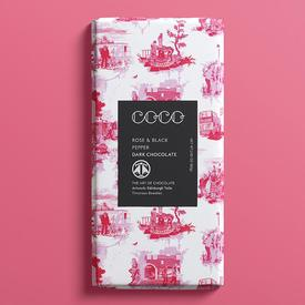 Rose and Black Pepper Dark Chocolate Bar