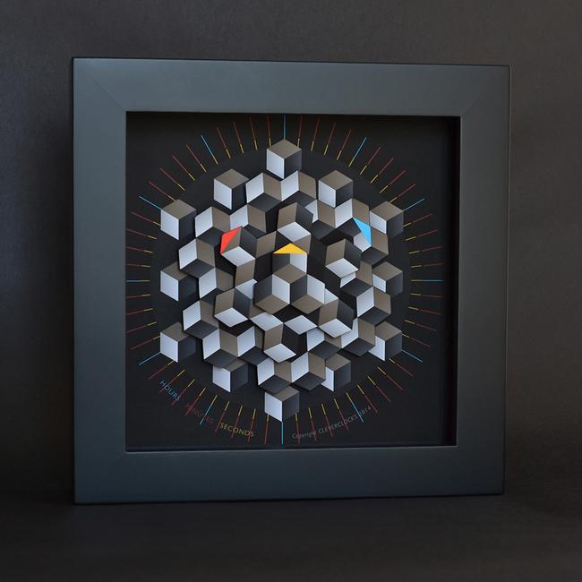Hexagon Clock Medium