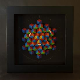 Hexagon Clock Medium MULTI