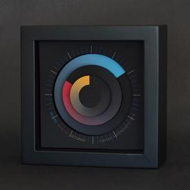 Sonar Clock - Primary Colors - Medium
