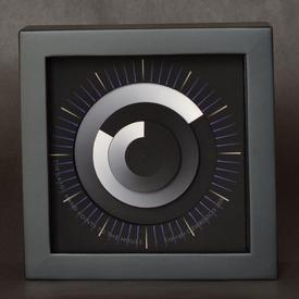 Sonar Clock - Black and White - Small