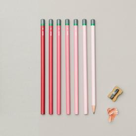Gradient sketching Pencils Set  - Pink PINK