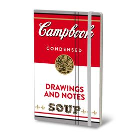Pop Art Soup Notebook - Red/White