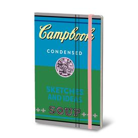 Pop Art Soup Notebook - Blue/Green