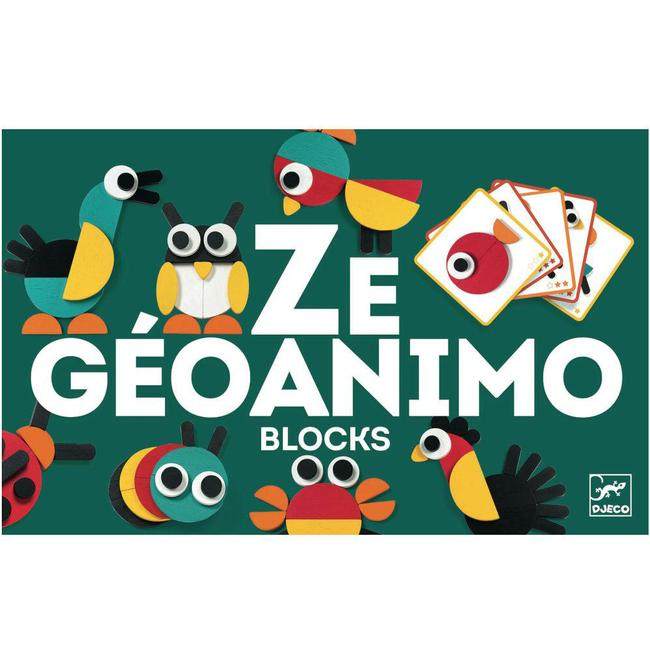 Ze Geoanimo Wooden Blocks Set