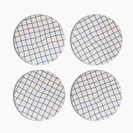 Grid Coaster Set - Blue