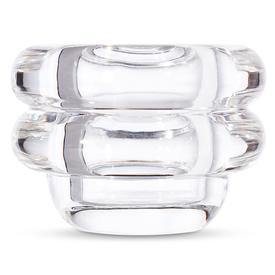 Pressed Glass Horizontal Candle Holder