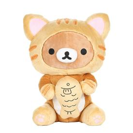 Rilakkuma as Tiger Eating Fish Plush