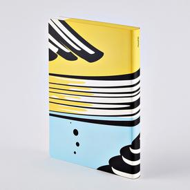 Nouvelle Vague Graphic Notebook YELLOW_BLACK_BLUE