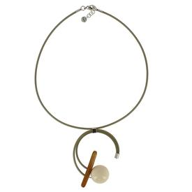 Melody Necklace - Olive Green