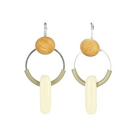 Miro Earrings - Olive Green