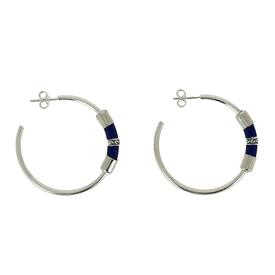 Globetrotter Hoop Earrings - Royal Blue