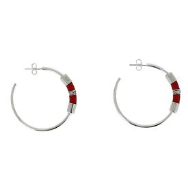 Globetrotter Hoop Earrings - Red