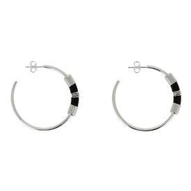 Globetrotter Hoop Earrings -  Black