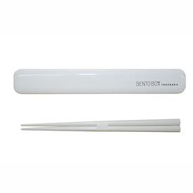 Chopsticks and Case - White