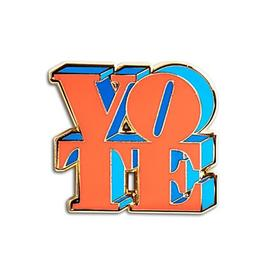 VOTE Enamel Pin - Red and Blue