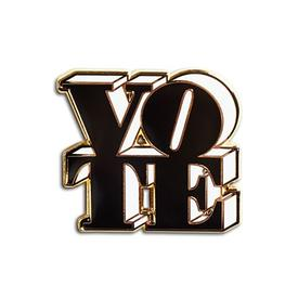 VOTE Enamel Pin - Black and White