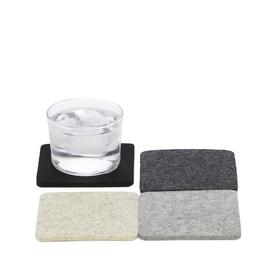 Bierfilzl Square Wool Coasters - Noir - Set of 4